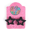 Fancy Star Shape Earrings - Black (ER-29)