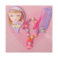Doll Pearl Necklace Jewelry Set - Purple (16021)