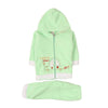 Magical Town Hooded 2 PCs Suit For Infants - Seaform Green (IS-210)