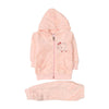 Baby Elephant Hooded 2 PCs Suit For Infants - Pink (IS-208)