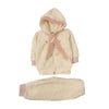 Butterfly Hooded 2 PCs Suit For Infants - Wheat/Pink (IS-209)