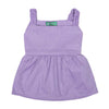 Stylish Cotton Frock For Girls - Purple (4113)
