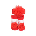 Baby Lucky Booties Gift Set For Baby Girl - Red/White (BOT-0020)