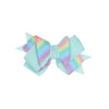 Ribbon Bow Hair Pin For Girls - Sea Green (9256)