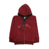 Let's Go Girl's Zipper Fleece Hoodie - Red (FJ-06)