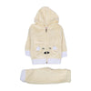 Hooded 2 PCs Suit For Infants - Yellow (IS-03)