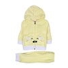 Hooded 2 PCs Suit For Infants - Yellow (IS-07)
