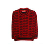 Girl Power Woolen Sweater For Girls - Red/Black (0753-1)