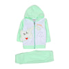 Elephant Hooded 2 PCs Suit For Infants - Green/White (IS-05)