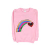 Rainbow Fleece Sweater For Girls - Pink (ST-02)
