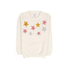Stars Fleece Sweater For Girls - White (ST-05)