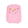 Stars Fleece Sweater For Girls - Pink (ST-04)