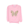 Butterfly Fleece Sweater For Girls - Pink (ST-06)