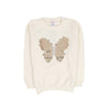 Butterfly Fleece Sweater For Girls - White (ST-07)