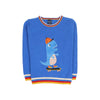Mini Dinosaur Fleece Sweater For Boys - Blue (ST-10)