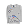 Dinosaur Fleece Sweater For Boys - Grey (ST-09)