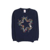 Star Fleece Sweater For Girls - Dark Blue (ST-16)