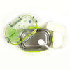 Transparent Lunch Box - Green (6527)