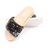 Fancy Sequin Slippers For Girls - Black/Silver (1010-19)