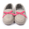 Fancy Bow Booties For Infants Girls - Grey (BB-17)