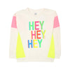 Hey Hey T'Shirt For Girls - White  (H-01)