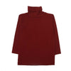 Turtle Neck Plain T-Shirt For Boys - Maroon (2642)