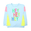 Hey Hey T-Shirt For Girls - Blue (H-02)