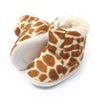 Camouflage Fur Booties For Infants Girls - Brown (BB-16)