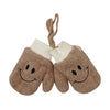 Smiley Winter Gloves For Kids - Brown (WG-12)
