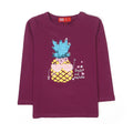 Pineapple Sequin T-Shirt For Girls - Purple (2006)