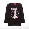 Minnie Mouse Printed T-Shirt For Girls - Black (2004)
