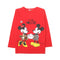 Mickey Mouse Printed T-Shirt For Girls - Red (GS-02)