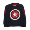 Captain America Woolen Sweater For Boys - Navy (0401)
