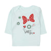 Fancy Bow T-Shirt For Infant Girls - Green (GTS-17)