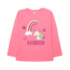 Unicorn Rainbow T-Shirt For Girls - Pink (GTS-16)