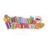 Glitter HBD Yum Hanging Board - Multi