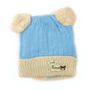 Woolen Baby Cap For Kids - Blue/Brown (4337)
