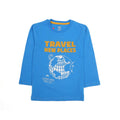 Travel New Places Printed T-Shirt For Boys - Blue (BTS-03)