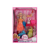 Baby Mommy Doll Playing Set For Kids - Orange (1188)