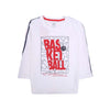 Basketball Printed T-Shirt For Boys - White (BTS-08)