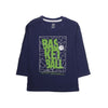 Basketball Printed T-Shirt For Boys - Navy (BTS-10)