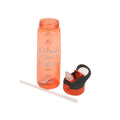 Plastic Push Button Water Bottle 800ml - Orange (1347)