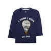 Bulb Sequin T-Shirt For Boys - Navy (BTS-13)