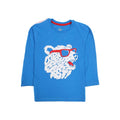 Wolf Printed T-Shirt For Boys - Blue (BTS-11)