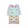 Embroidery Elephant Kurti For Girls - Blue (GT-05)