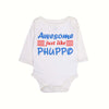 Awesome Just Like Phuppo Romper For Infants - White (017)