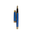 Stylish Fountain Ink Pen With Case - Blue (8053)