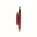 Stylish Fountain Ink Pen With Case - Red (8053)