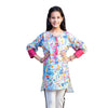 Hues Of Leaves 1 Pc Unstitched Kurti For Girls - Blue (LWN-03)
