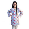Jungle Friend 1 Pc Unstitched Kurti For Girls - White (LWN-01)